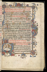 Historiated Initial With A Tonsure Service, In The Evesham Pontifical